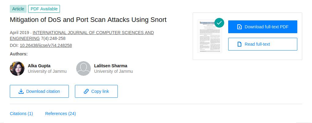 Screenshot_2021-02-17 (PDF) Mitigation of DoS and Port Scan Attacks Using Snort